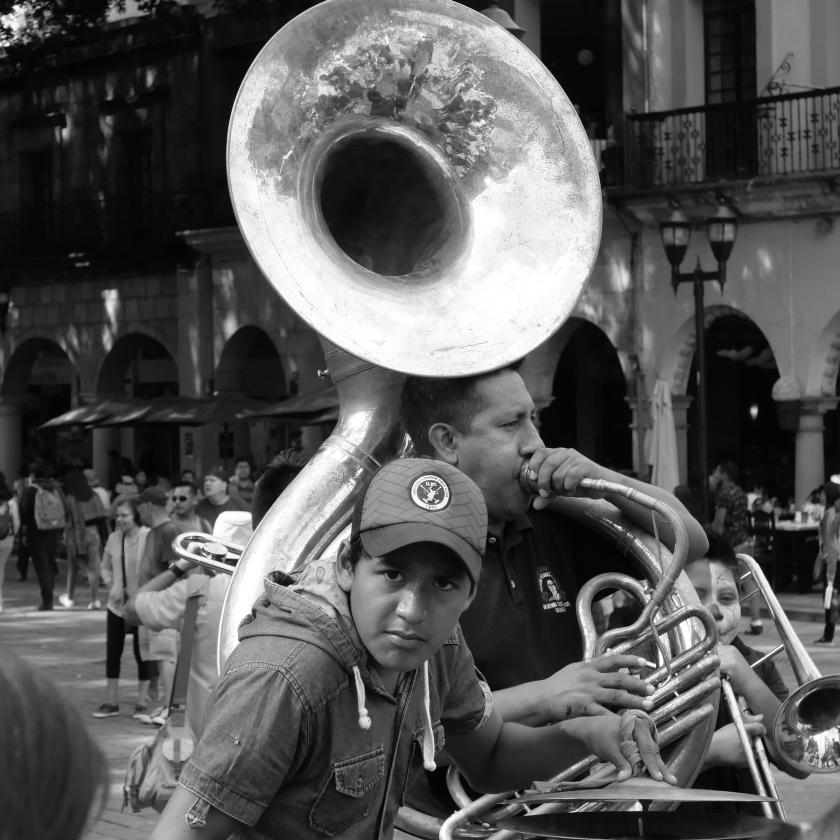 Boy + tuba