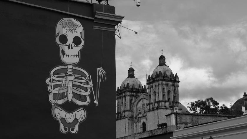 Skeleton + church